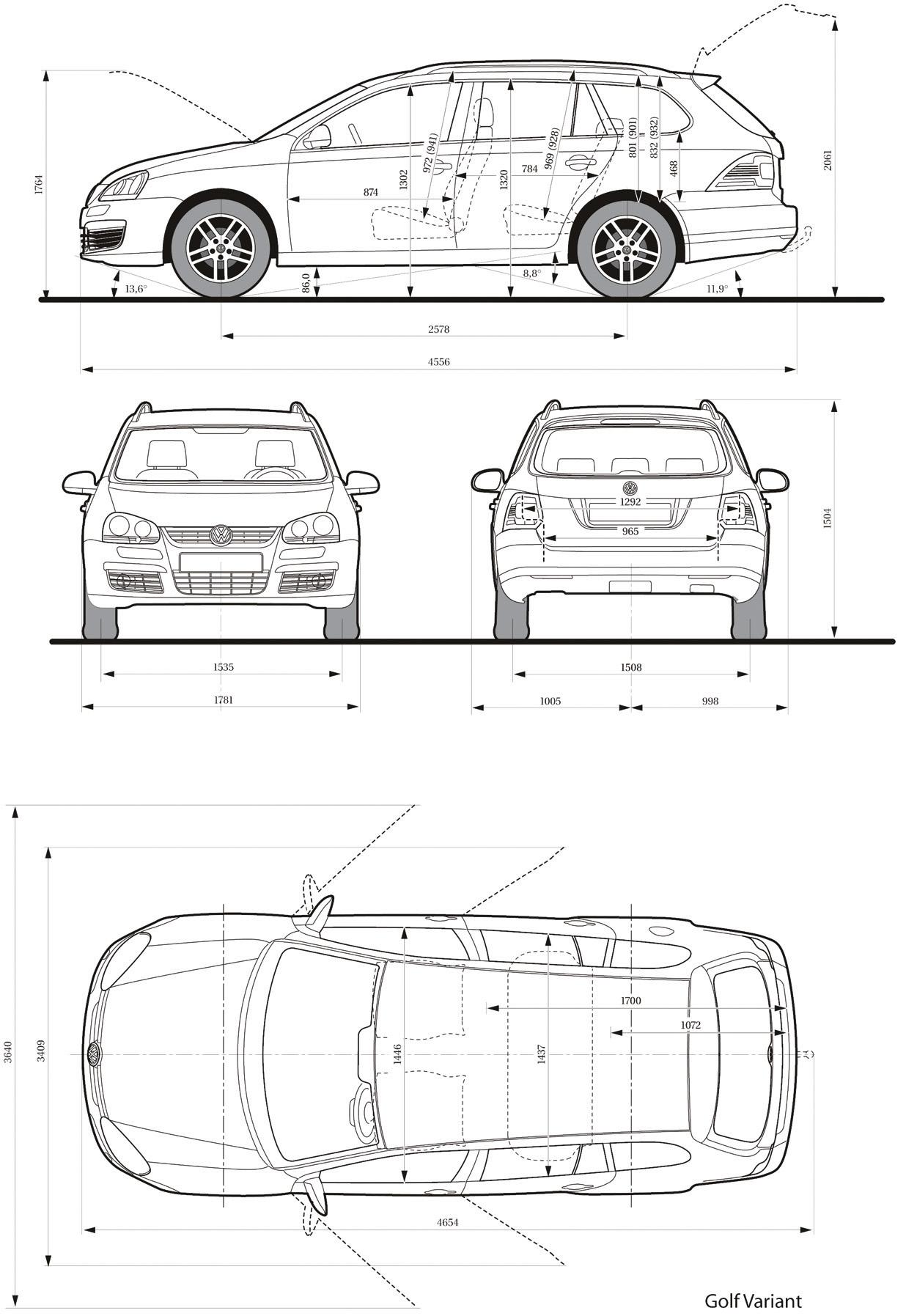 Volkswagen Golf V Blueprint