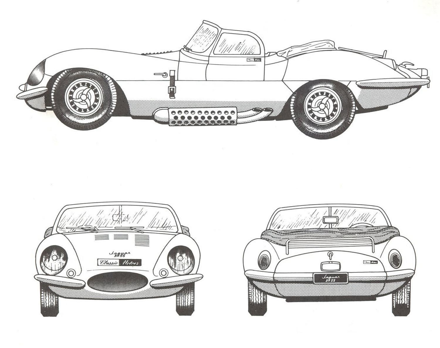 Jaguar Xkss Blueprint