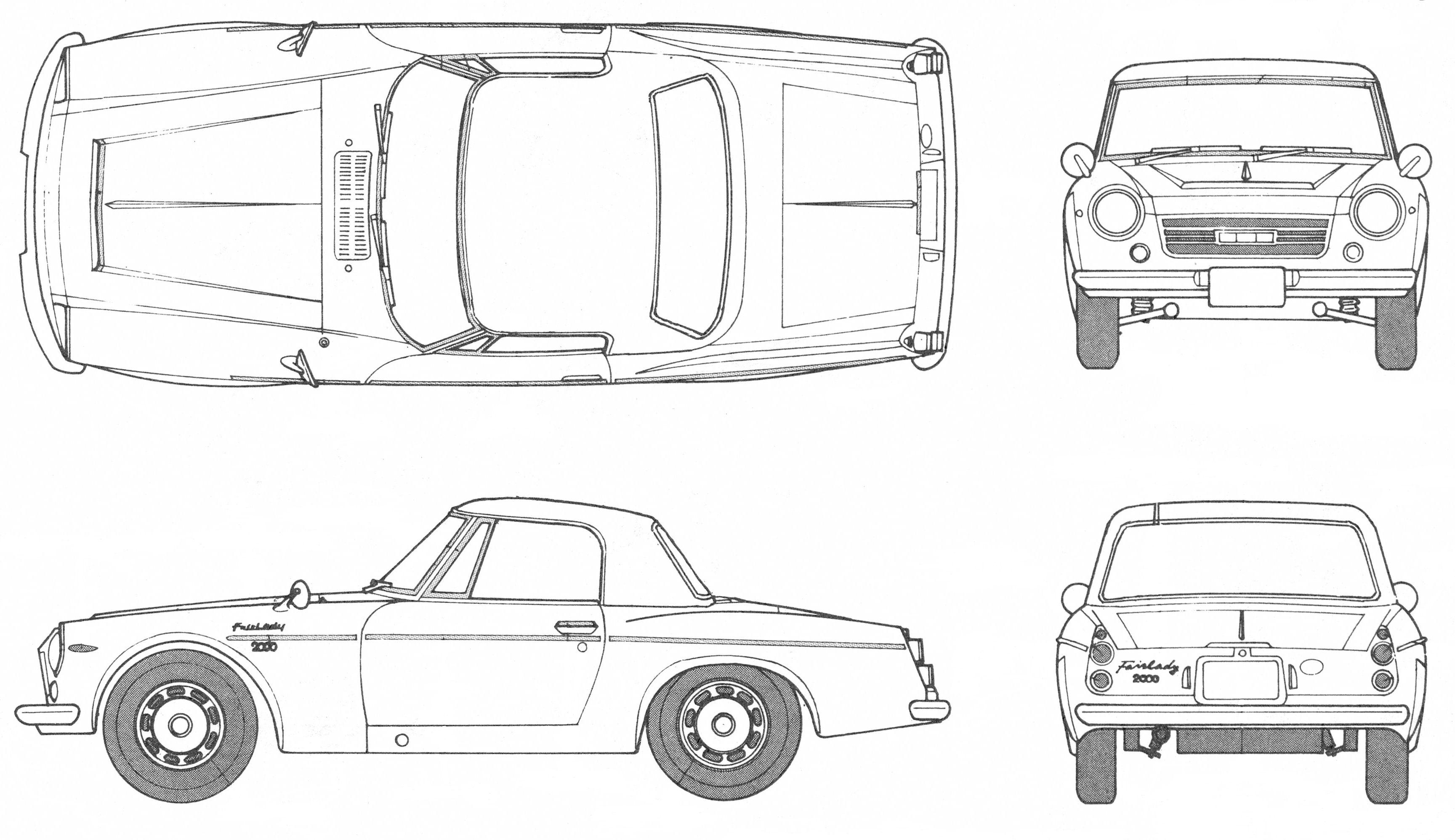 Datsun Fairlady Blueprint