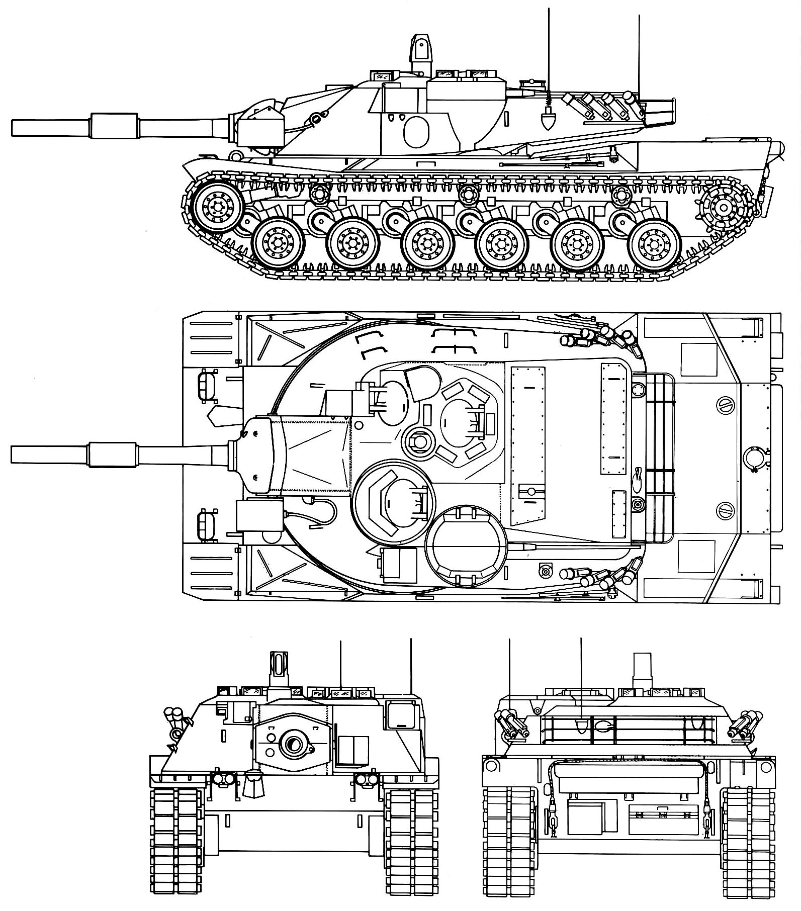 Mbt 70 Blueprint