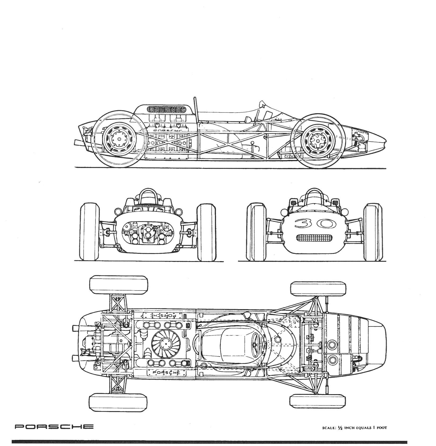 Porsche 804 F1 Blueprint