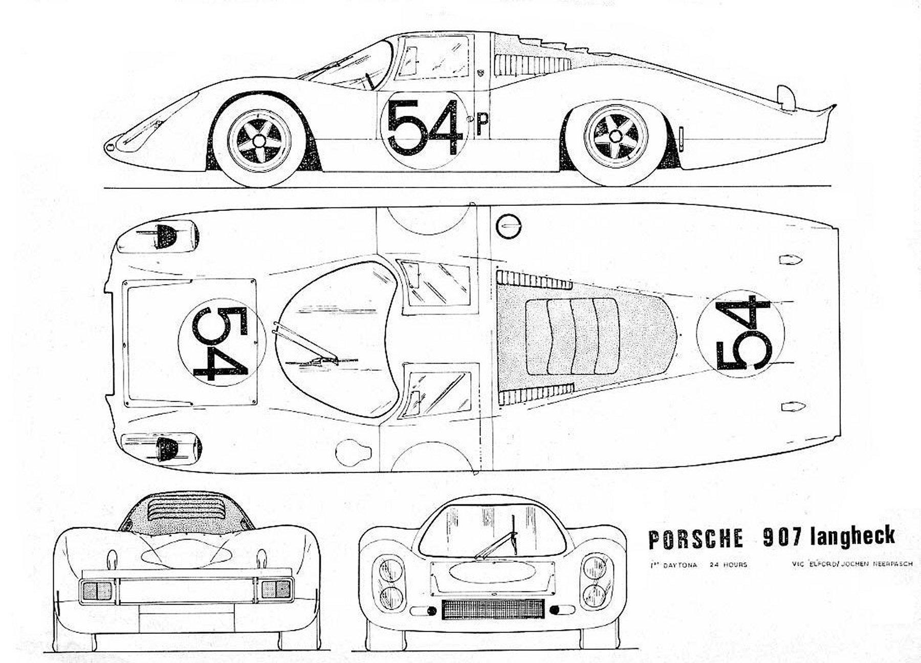 Porsche 907 Blueprint