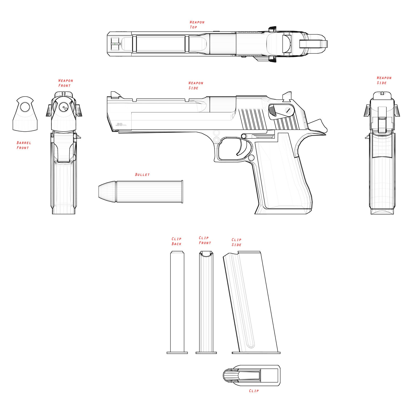 Imi Desert Eagle Blueprint