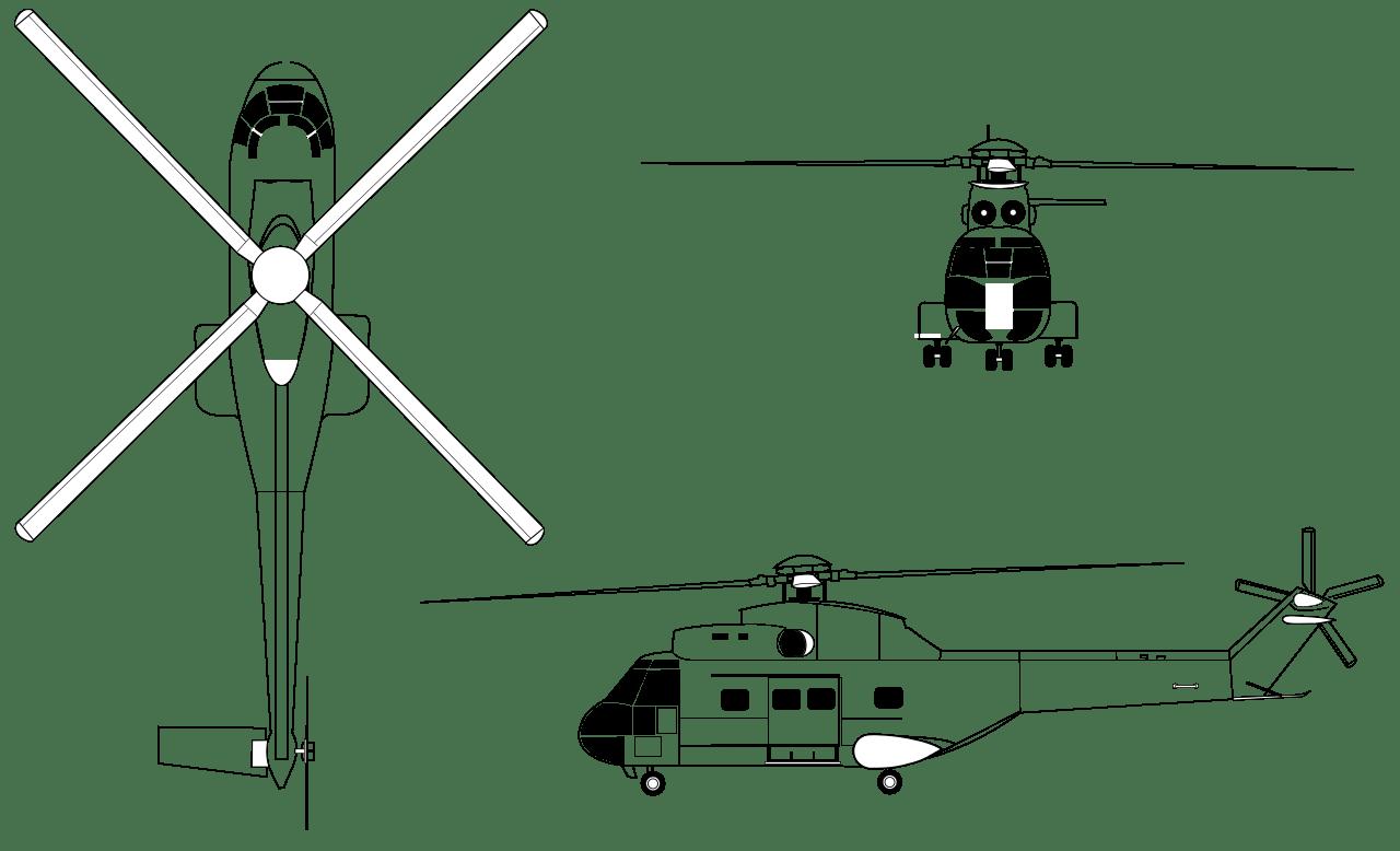 Aerospatiale Sa 330 Puma Blueprint
