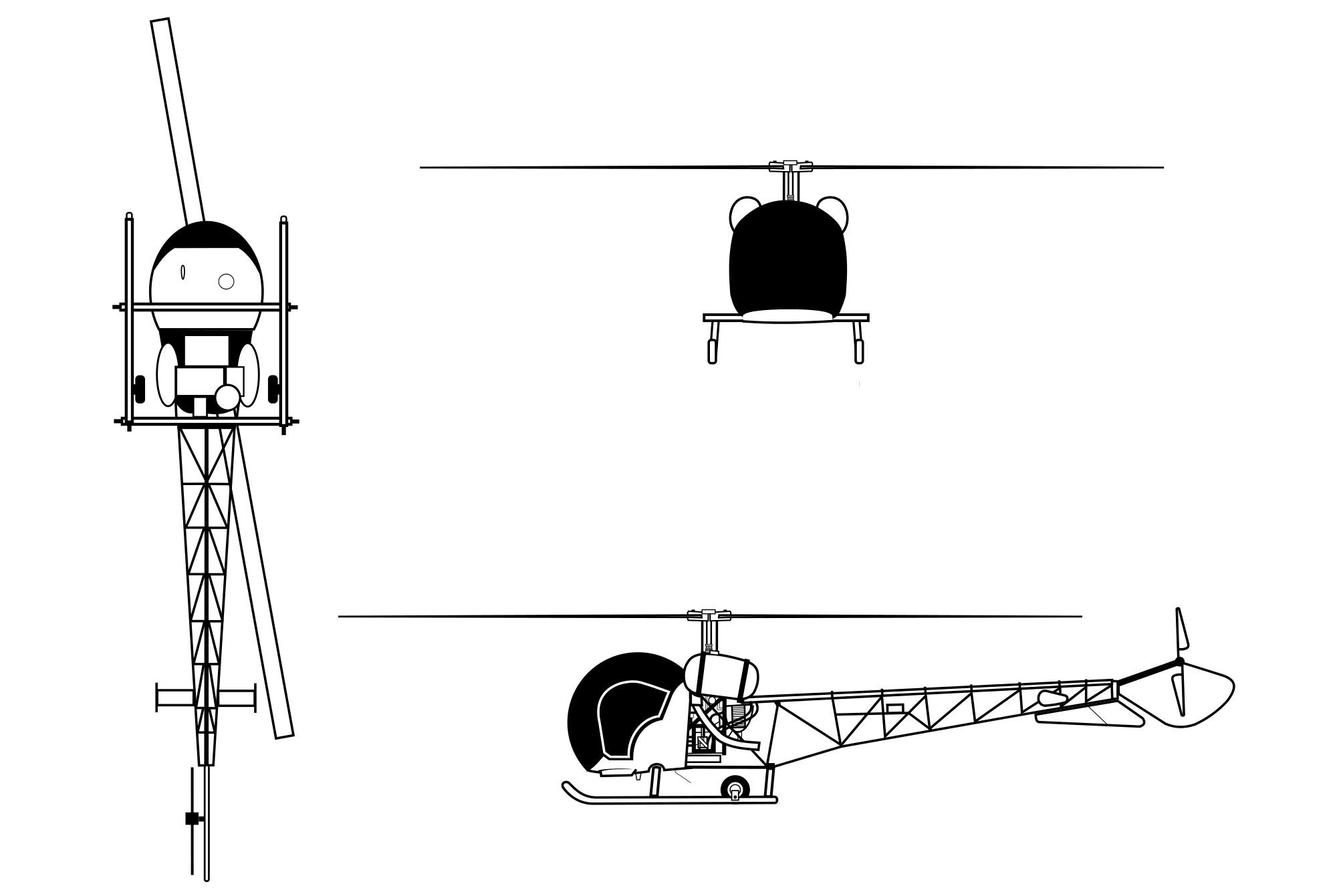 Bell H 13 Sioux Blueprint