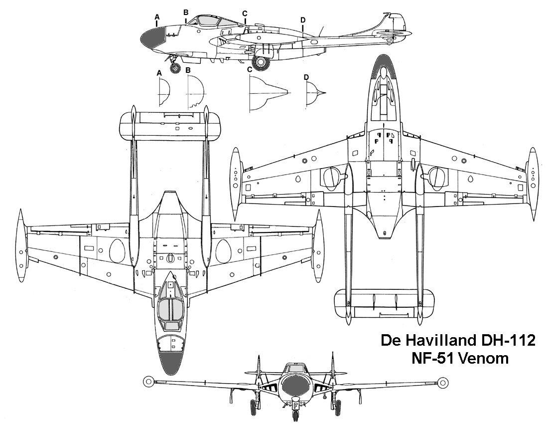 De Havilland Venom Blueprint