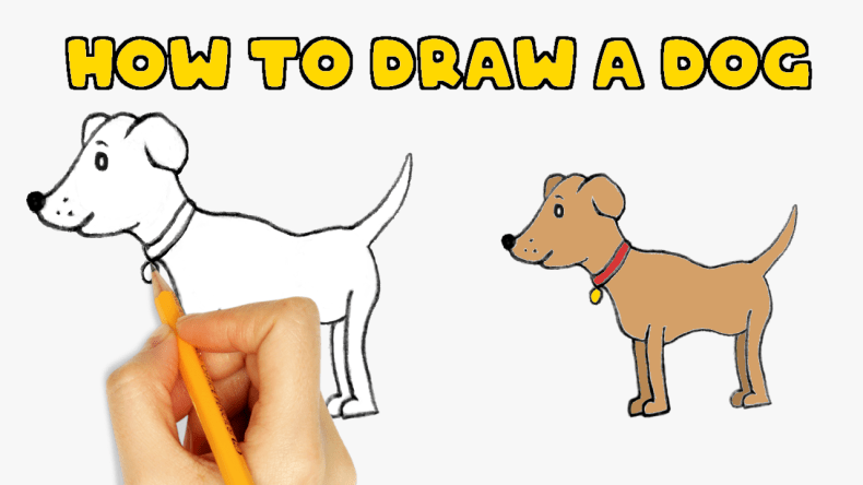 How To Draw A Easy Dog Step By Step Drawing Drawing Dog