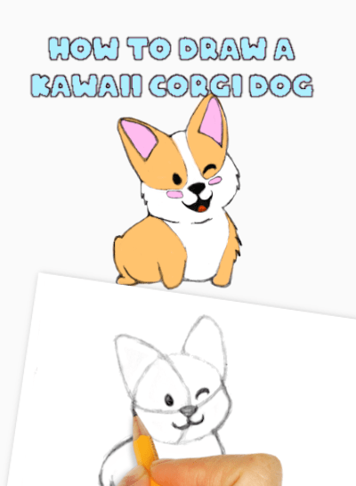 How to Draw a Kawaii Dog Corgi