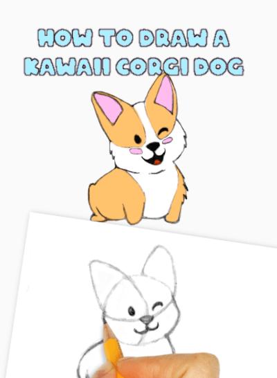 How to Draw a Kawaii Dog Corgi
