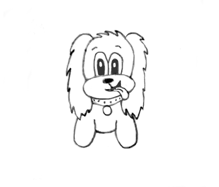 cute cocker spaniel outline drawing