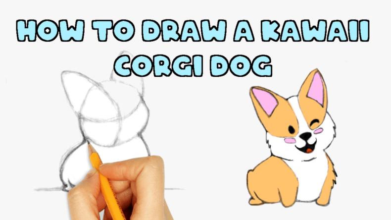 cute kawaii corgi drawing