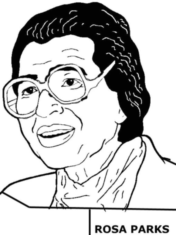 Rosa Parks Coloring Page Drawinginsider