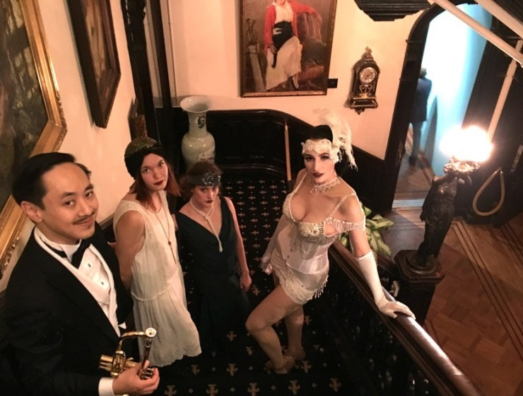 Roaring 20's Fashion Drawing at The National Arts Club