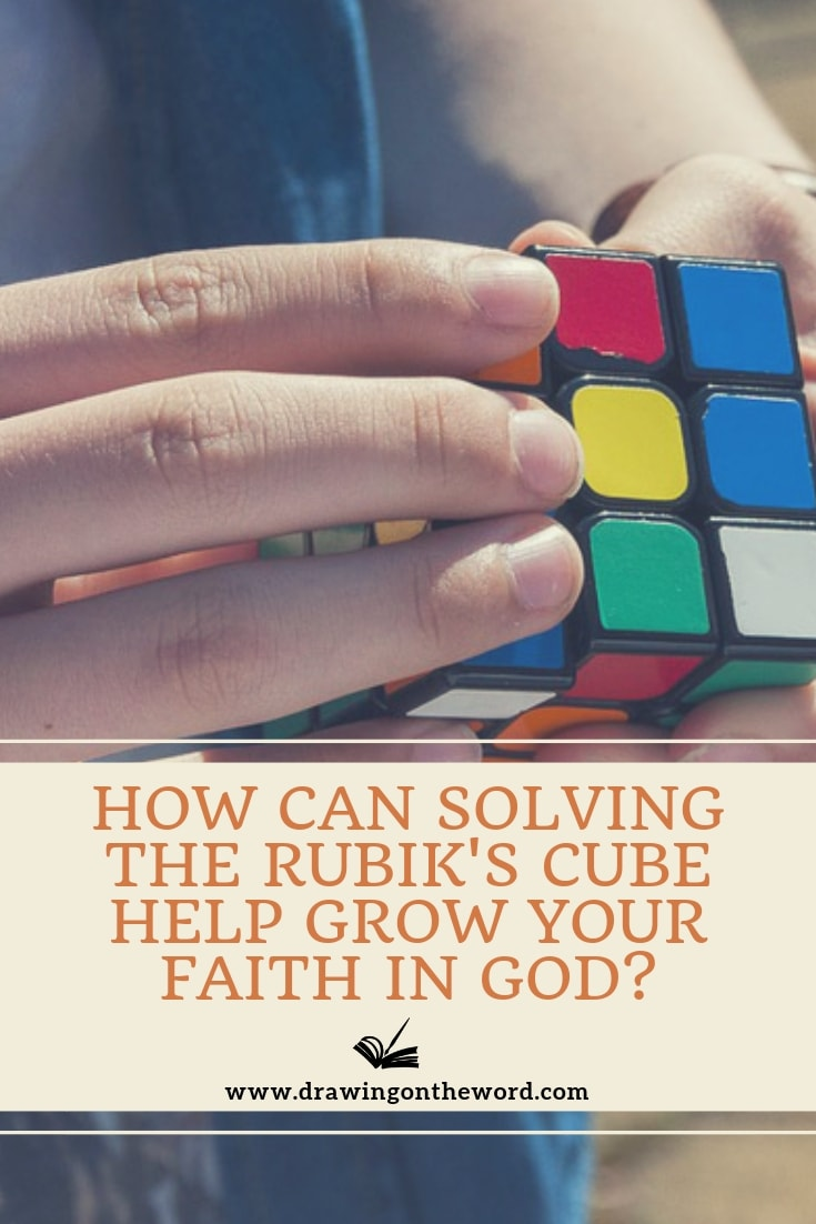 How can solving the Rubik's cube help grow your faith in God? When we can't see the way ahead and don't know where we're going, how can it help us to trust? #Rubikscube #faith #trust #trustingod #trustinggod