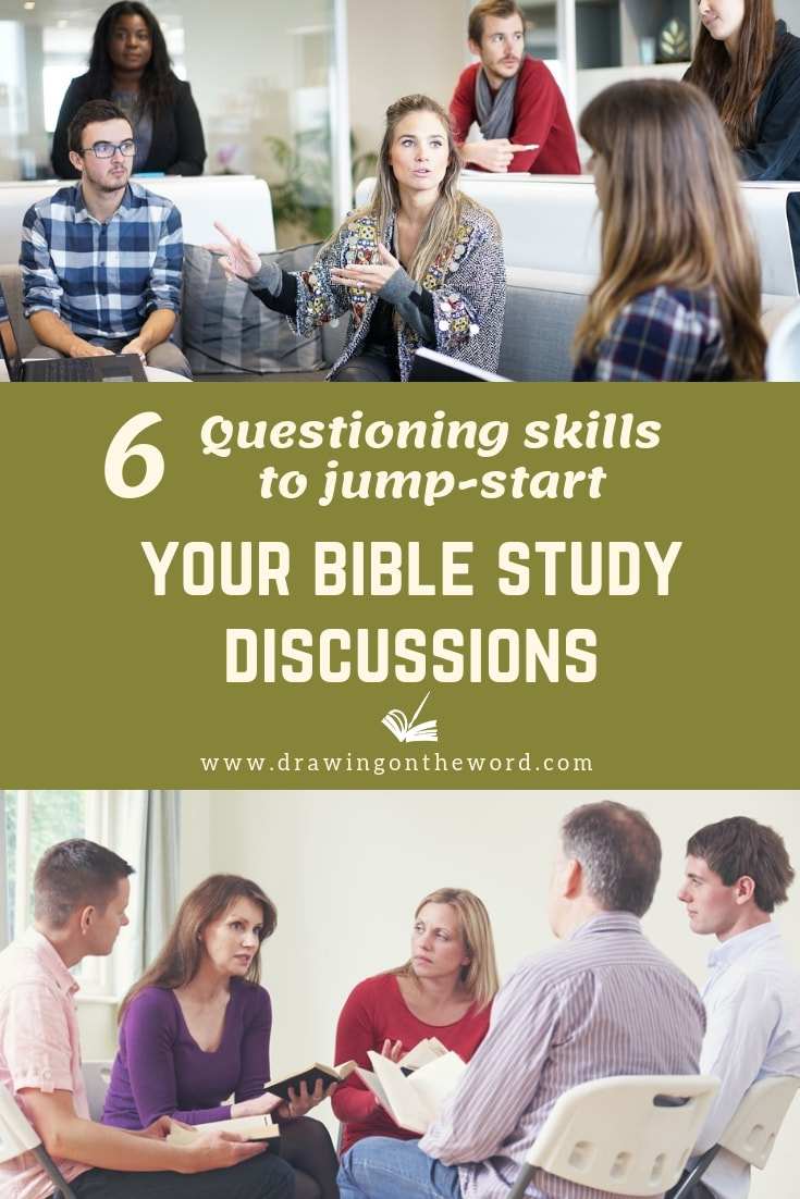 How can we ask questions effectively and get everyone involved. Here are 6 strategic questioning techniques based on Bloom's Taxonomy to elicit more in-depth Bible Study discussions. #questioning #biblestudy #biblestudydiscussion #bloomstaxonomy