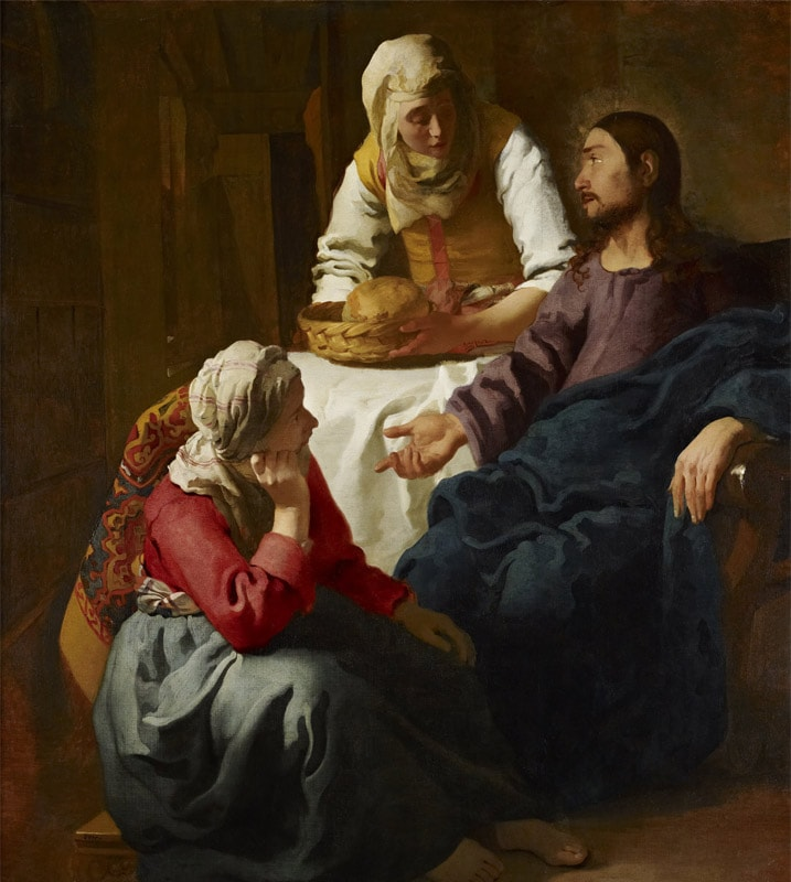 Christ in the House of Martha and Mary by Johannes Vermeer (1655)