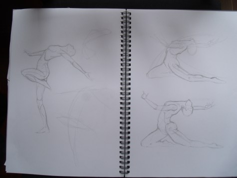 Gesture - figure practice from Poses for Artists