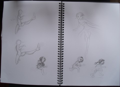 Figure practice and little zombies (from A Brain is for Eating, D and A Jacobs, illustrated by Scott Brundage)