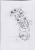 Hooks Flowers - graphite