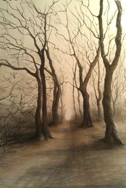 Pastels - trees