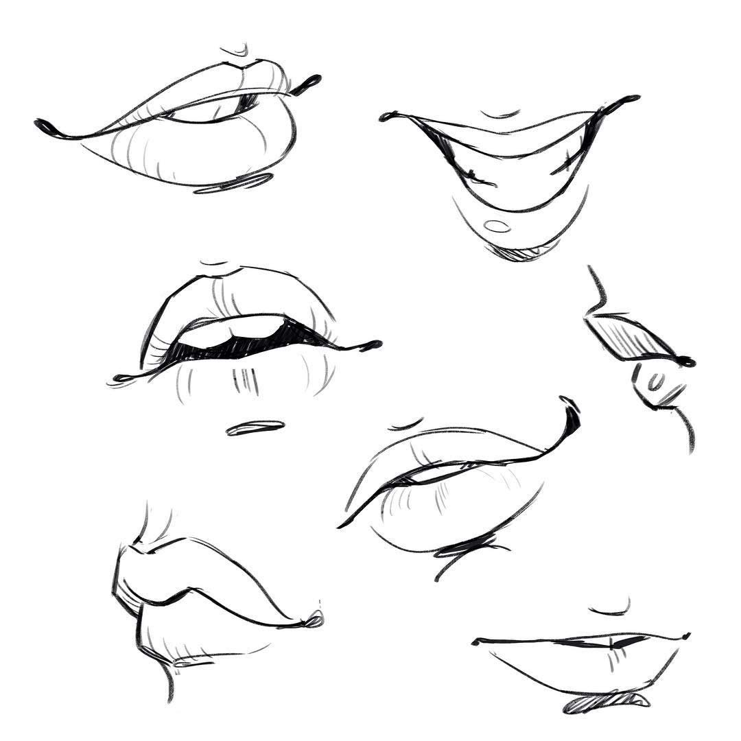 Mouth Drawing Reference And Sketches For Artists