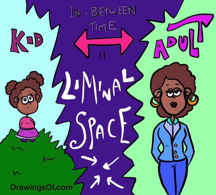 Liminal space definition cartoon lesson about age