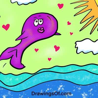 Purple whale story