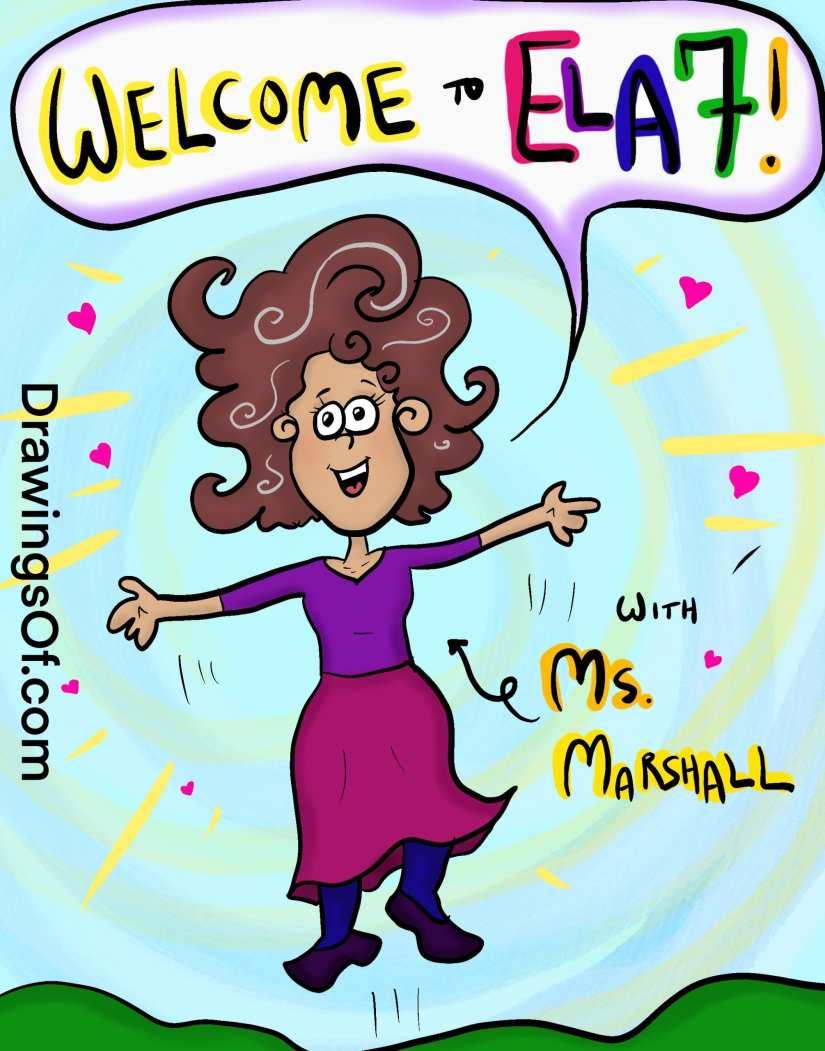 Happy teacher welcome