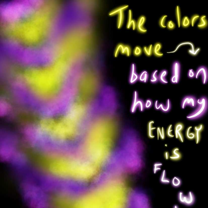 Seeing purple color during meditation