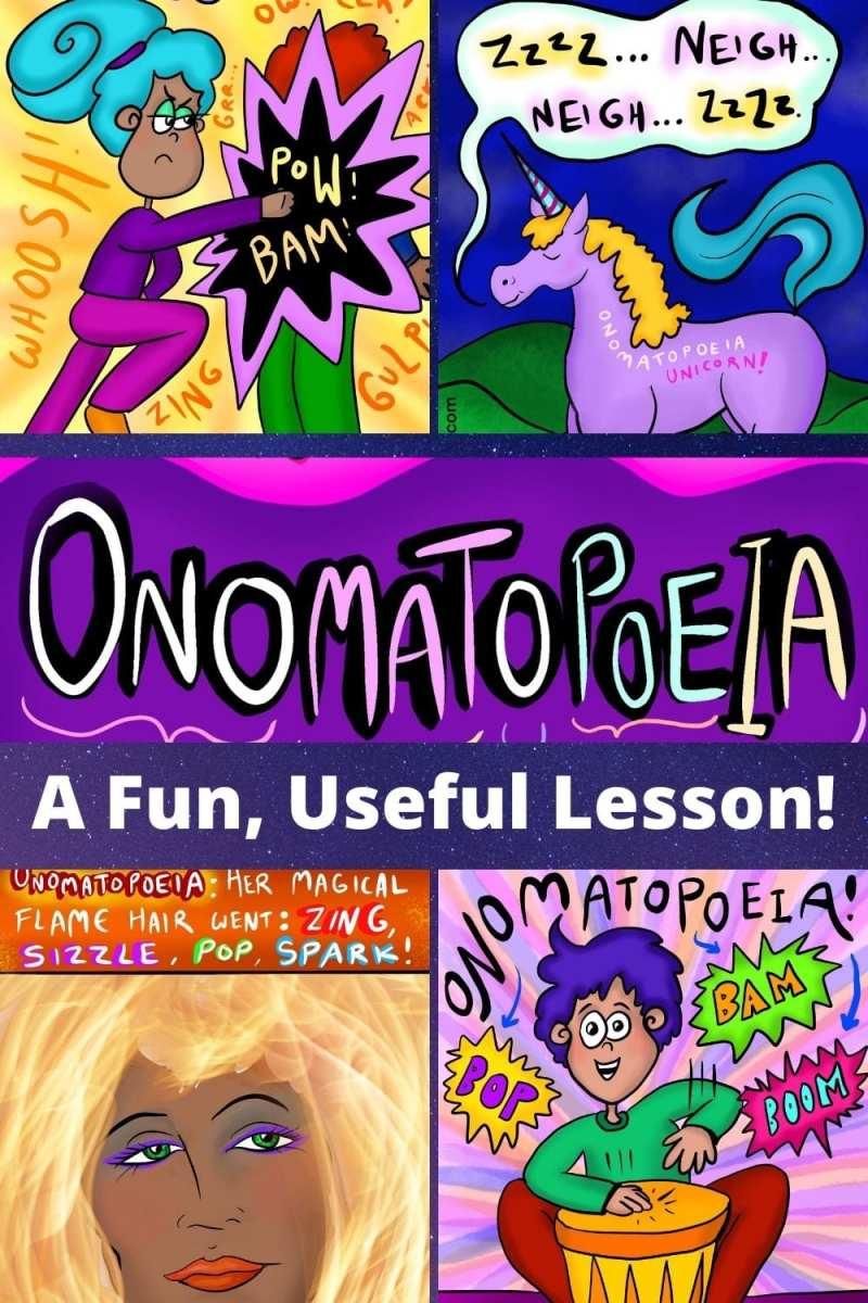 Onomatopoeia examples words art