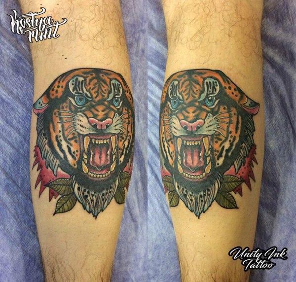 Тату Константин - фото татуировки в стиле Ньюскул, Тиг ...