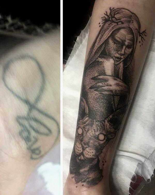 Тату Сергей Мартынов - фото татуировки в стиле Дотворк ...