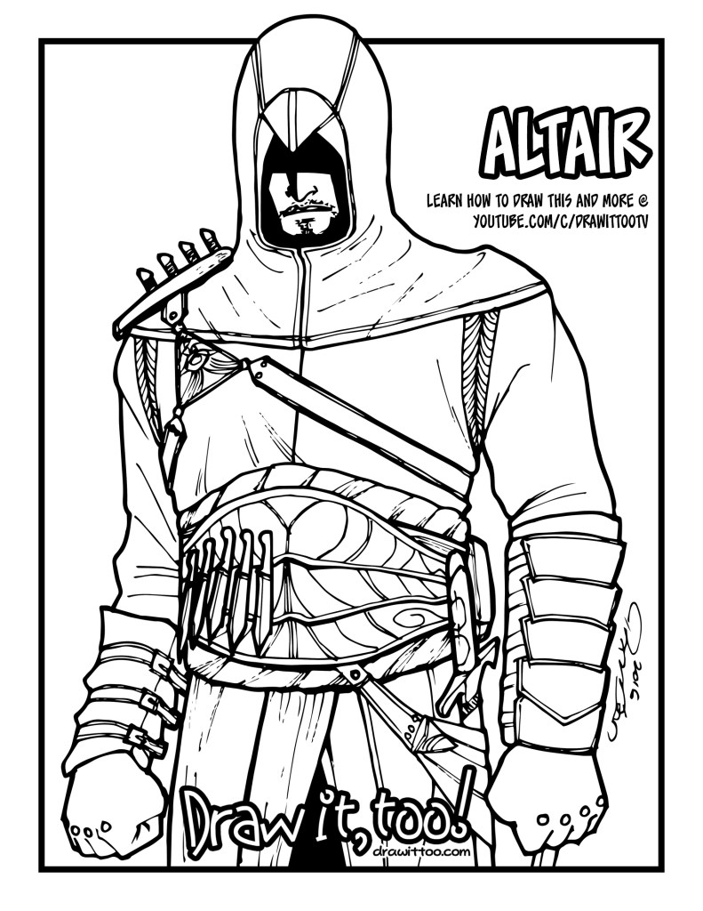 altair_coloring_page