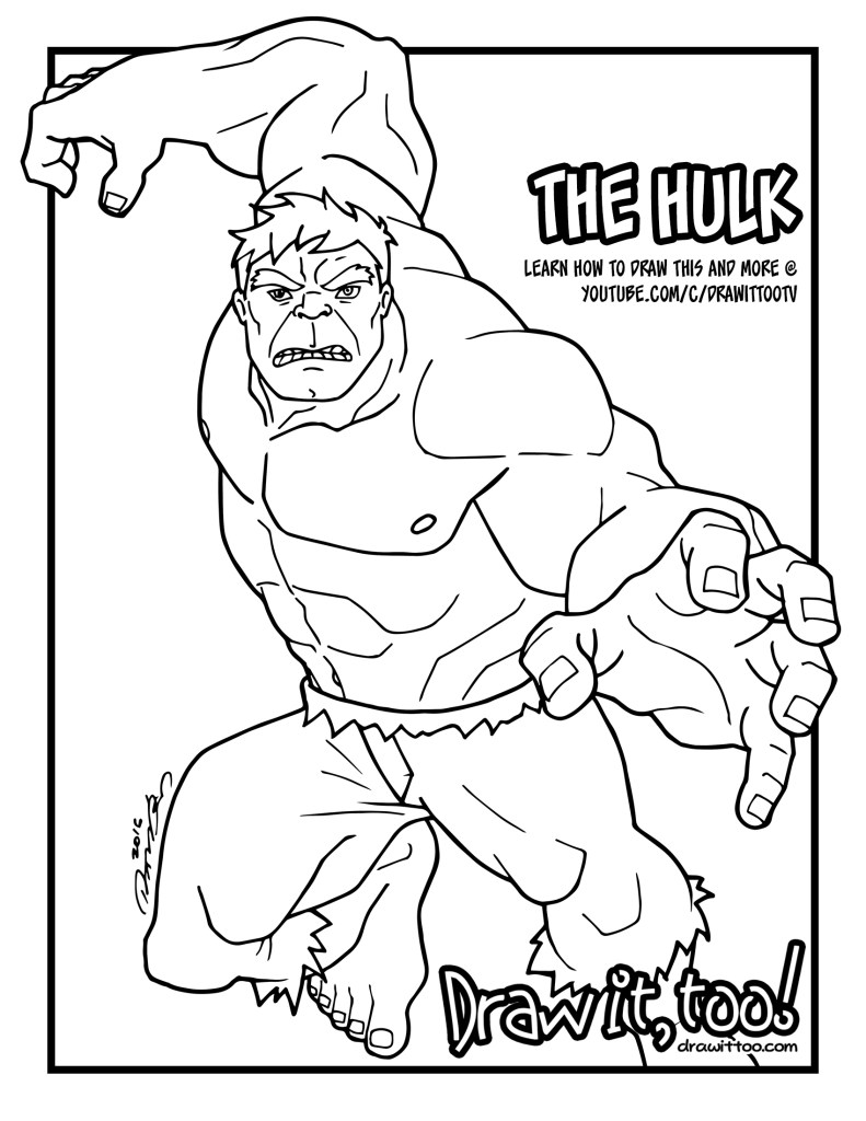 the_hulk_coloring_page