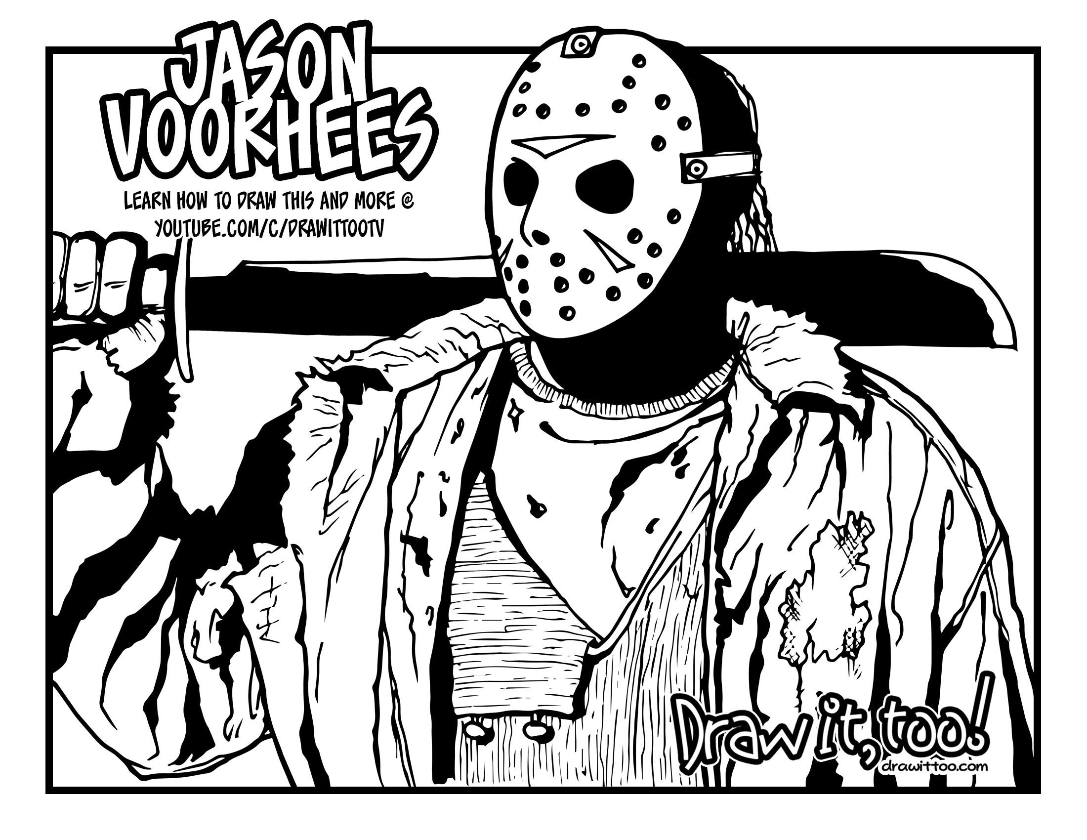 Welcome to Camp Crystal Lake Draw it Too