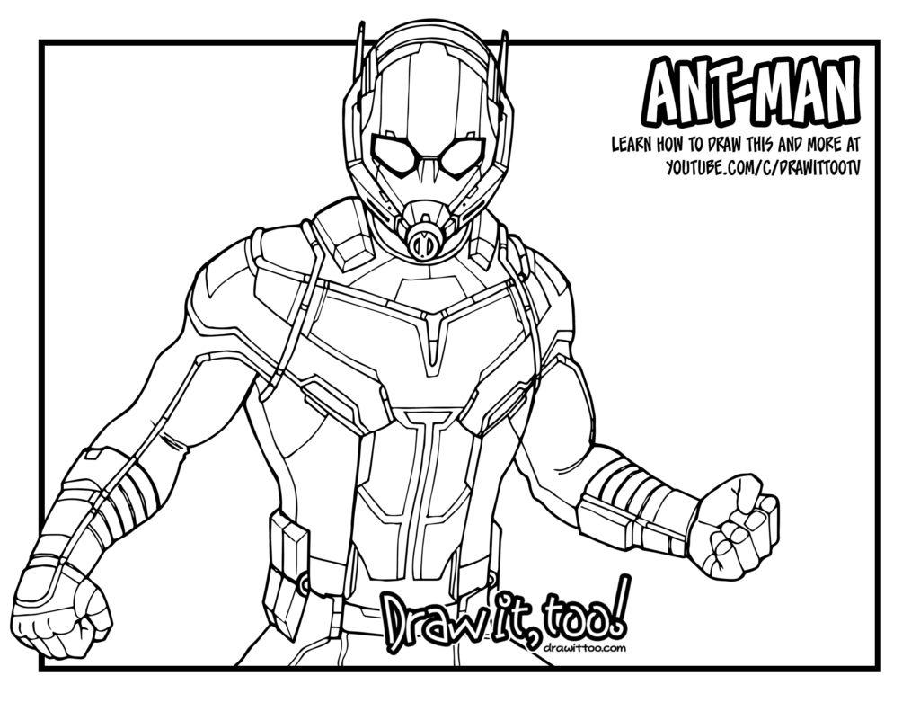 Ant Man Giant Man Captain America Civil War Drawing
