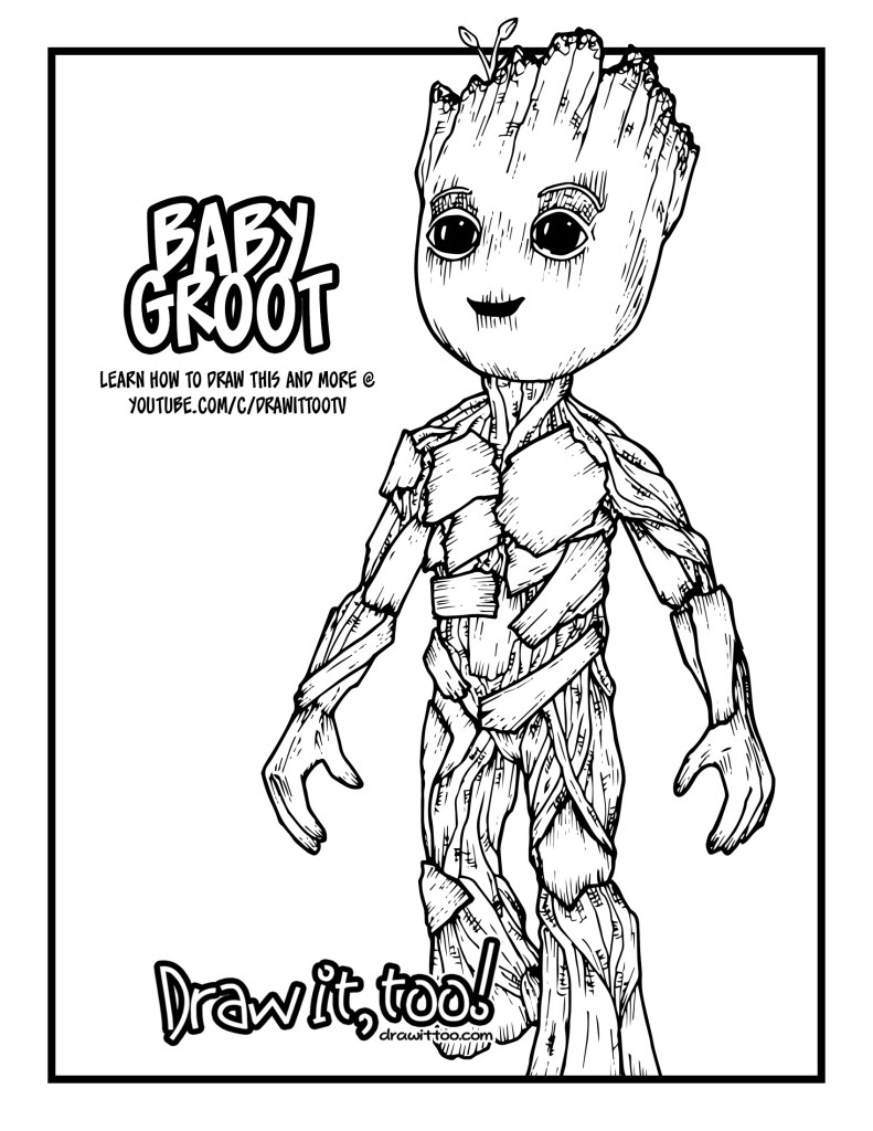 Baby Groot (Guardians of the Galaxy Vol. 2) Drawing ...