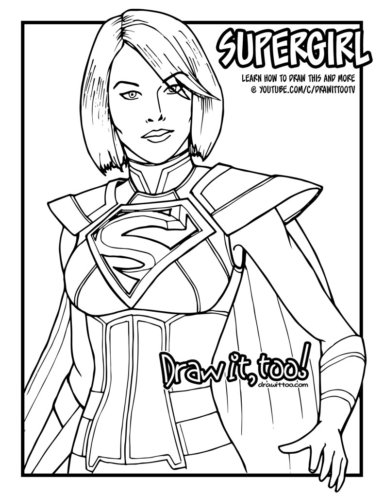 How to Draw SUPERGIRL (Injustice 2) | Narrated Easy Step ...