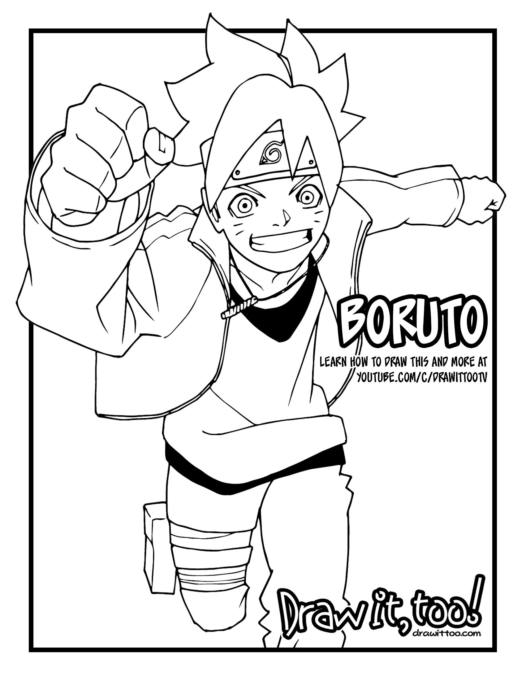 Boruto Naruto Next Generations Coloring Pages Novocom Top
