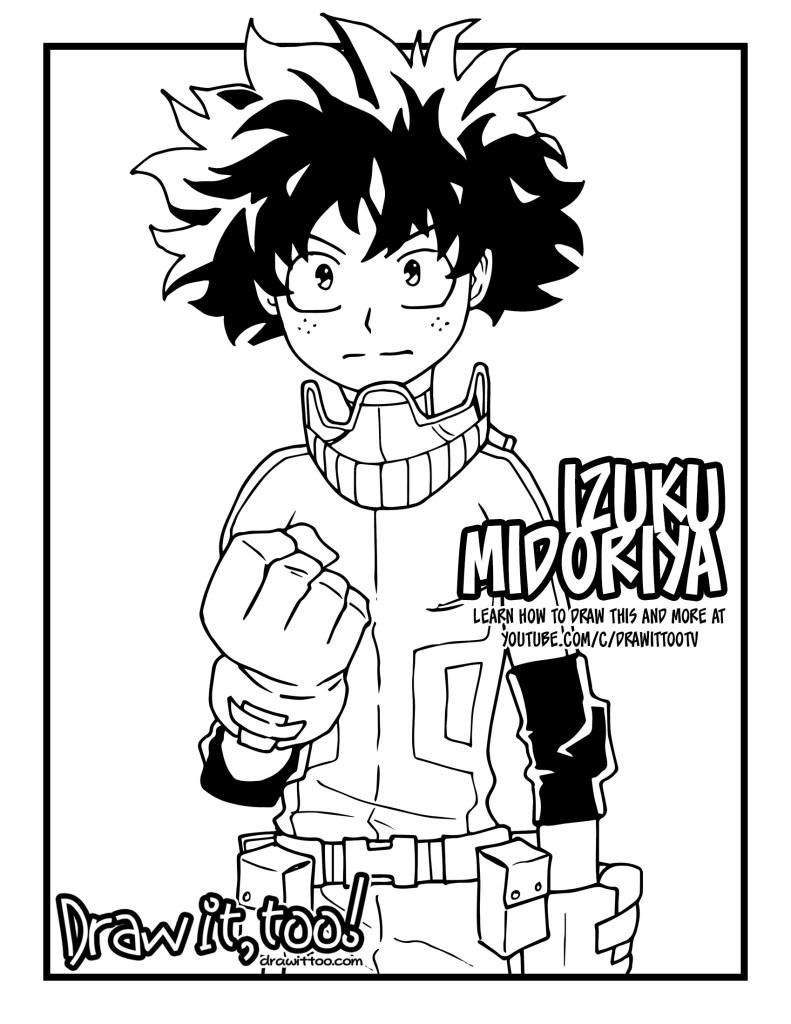 How To Draw Izuku Midoriya Deku My Hero Academia Drawing