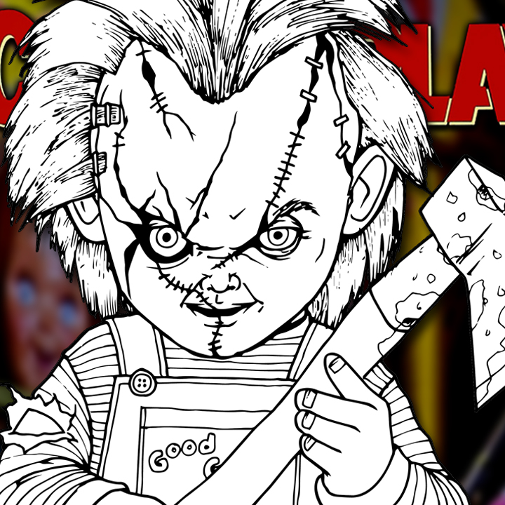 How to Draw CHUCKY (Child's Play) Drawing Tutorial