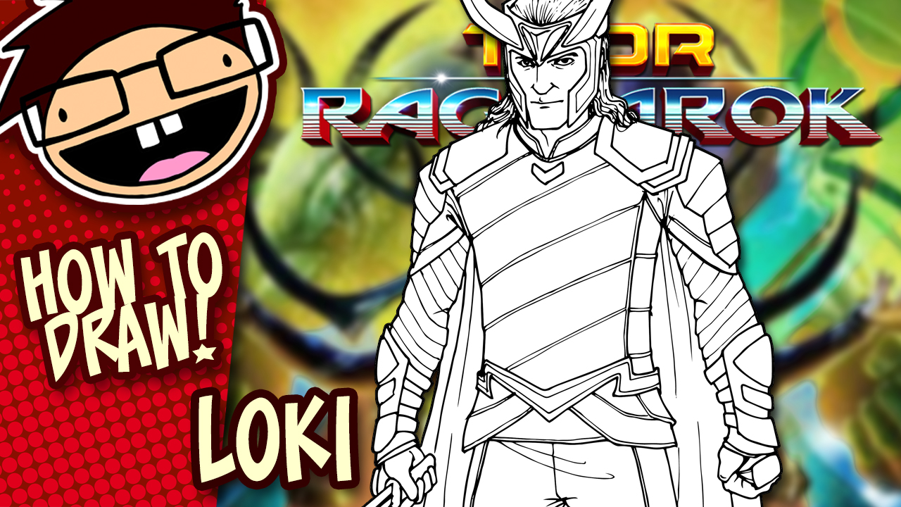 How to Draw LOKI (Thor: Ragnarok) Drawing Tutorial