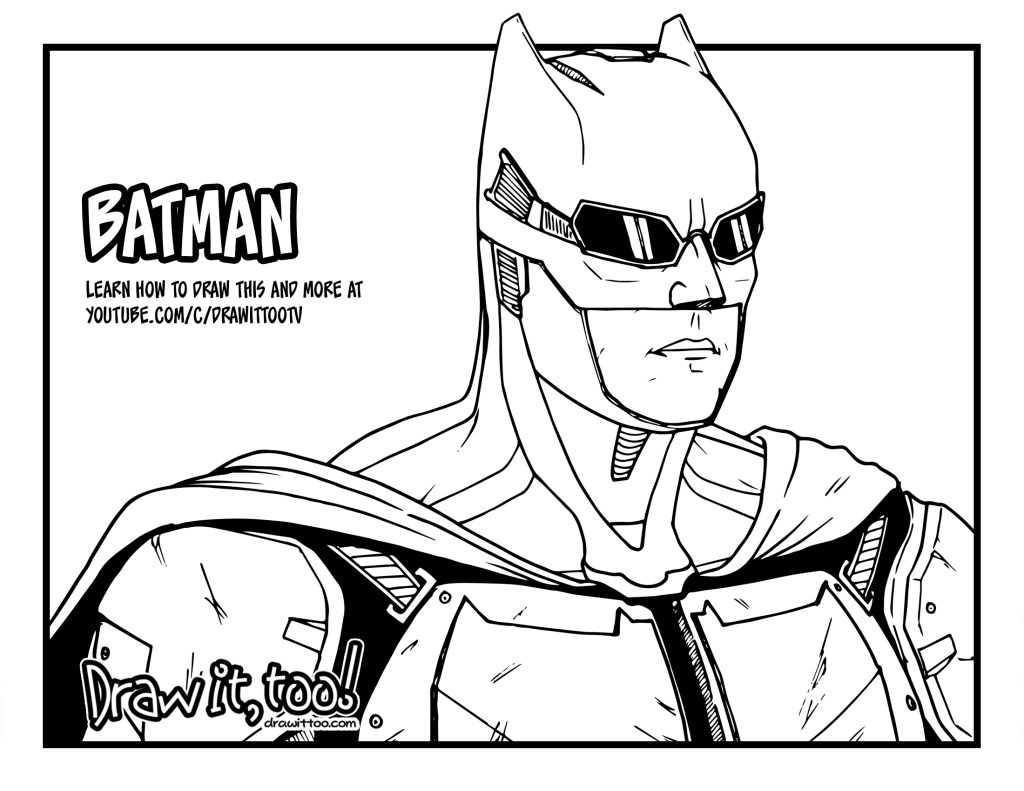 How to Draw TACTICAL SUIT BATMAN (Justice League) Drawing ...