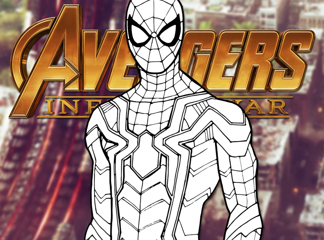 how to draw iron spider (avengers: infinity war) drawing tutorial