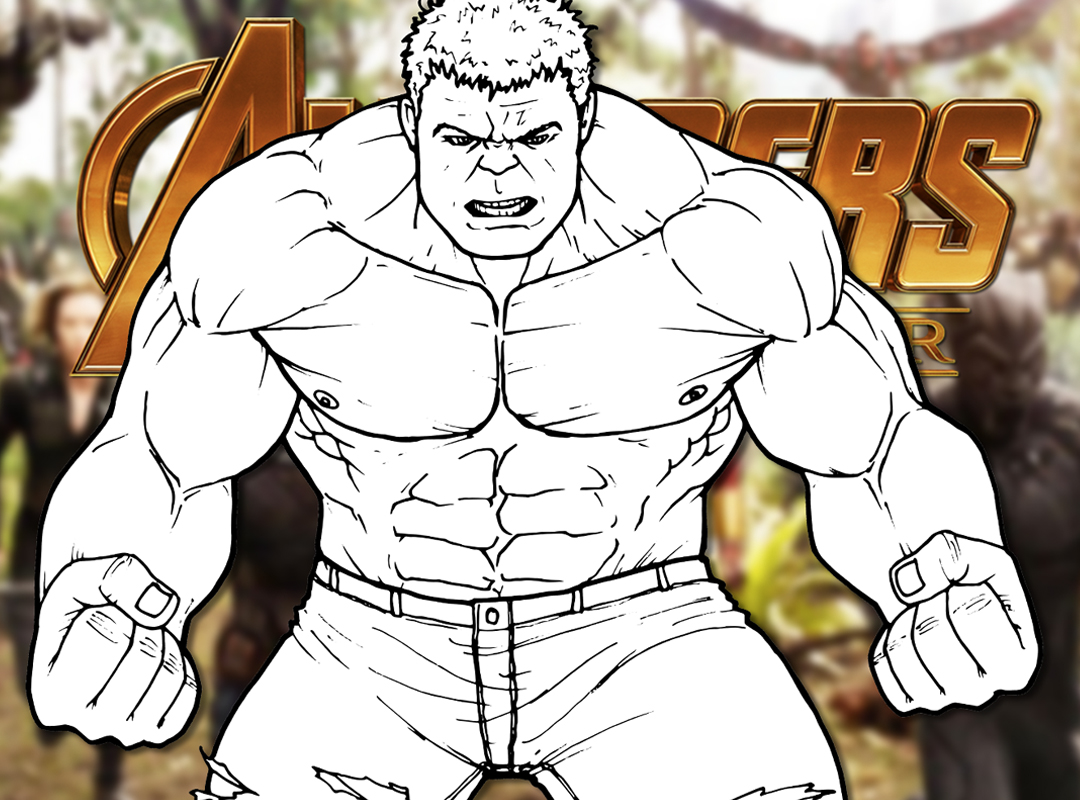 How To Draw The Hulk Avengers Infinity War Drawing Tutorial
