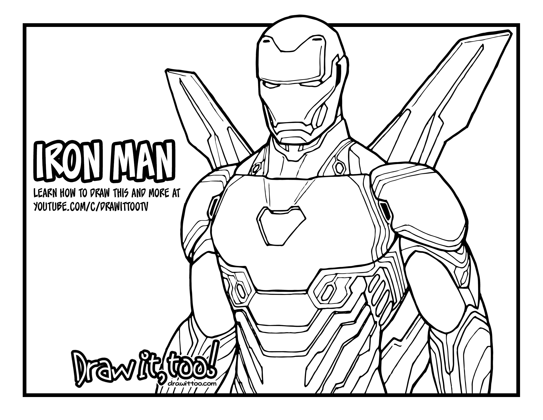 How to Draw IRON MAN (Avengers: Infinity War) Drawing