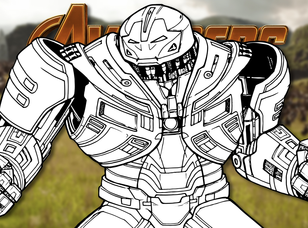 How to Draw the HULKBUSTER IRON