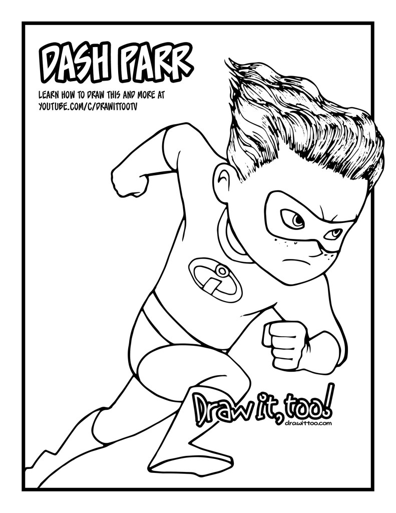 dash coloring pages - photo#22