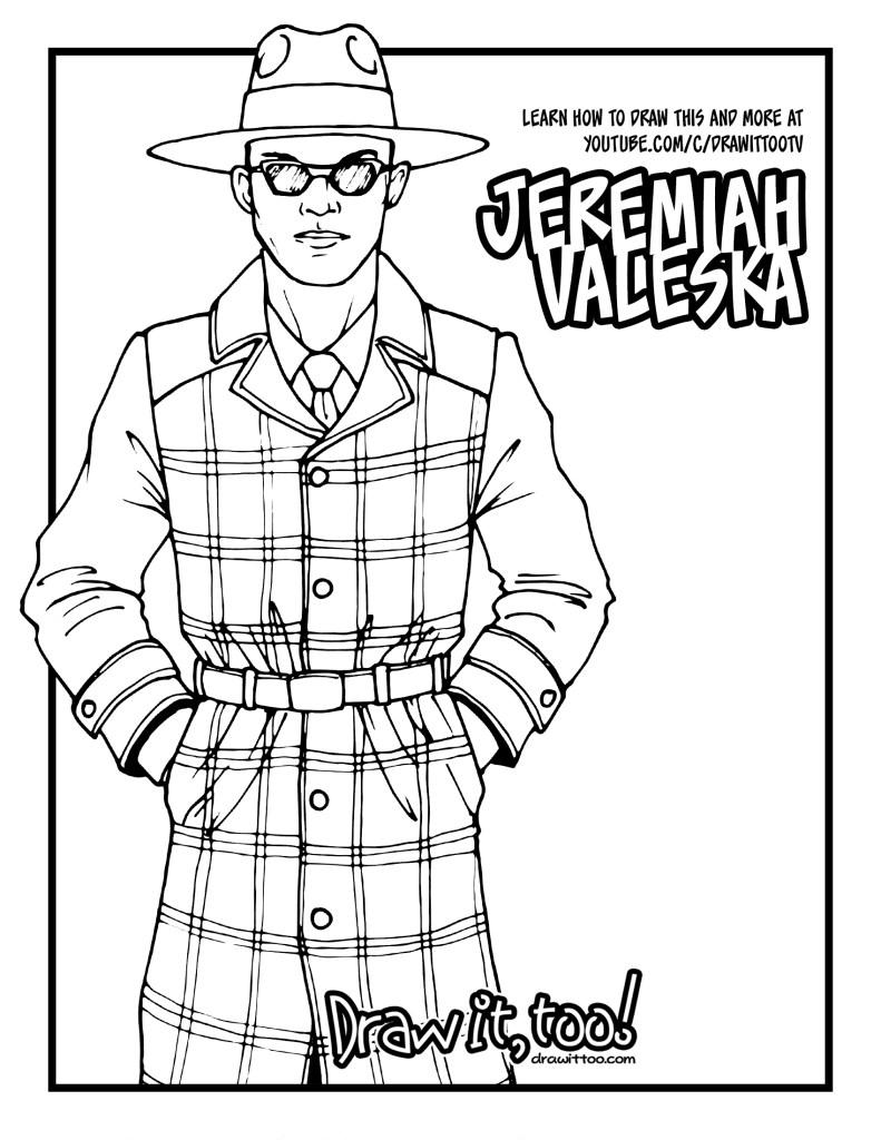 How to Draw JEREMIAH VALESKA (Gotham) Drawing Tutorial