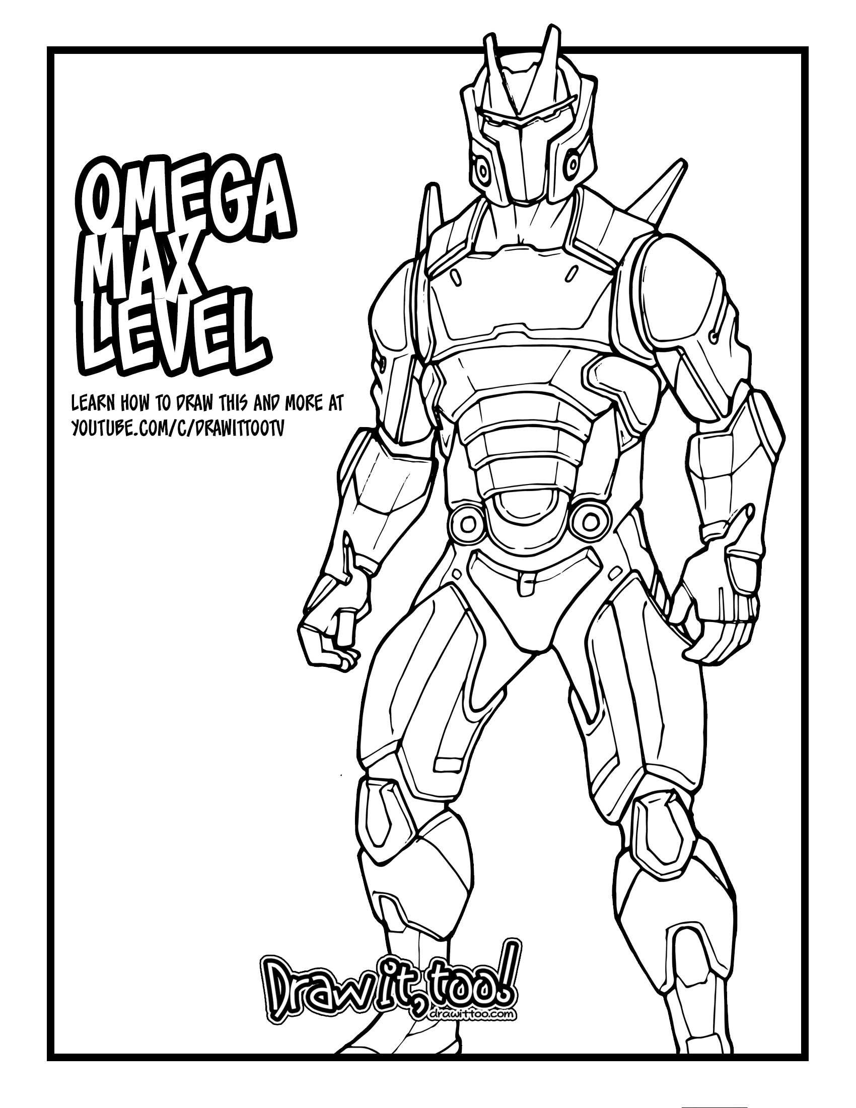 Coloring Pages Fortnite Omega
